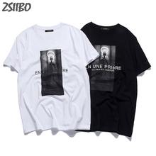 Mens T-Shirts New Virgin Mary Printed Cool Short Sleeve t shirt men and female Summer HipHop Large Tops Tees Streetwear M-3XL