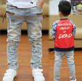 Meninos primavera calças jeans cintura elástica calças jeans crianças calças jeans crianças crianças sólidos 1pis