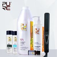 Бразильский кератин выпрямления волос 12% формальдегида и 2 бутылки волос шампунь одна бутылка кондиционер для волос получить 2 подарки