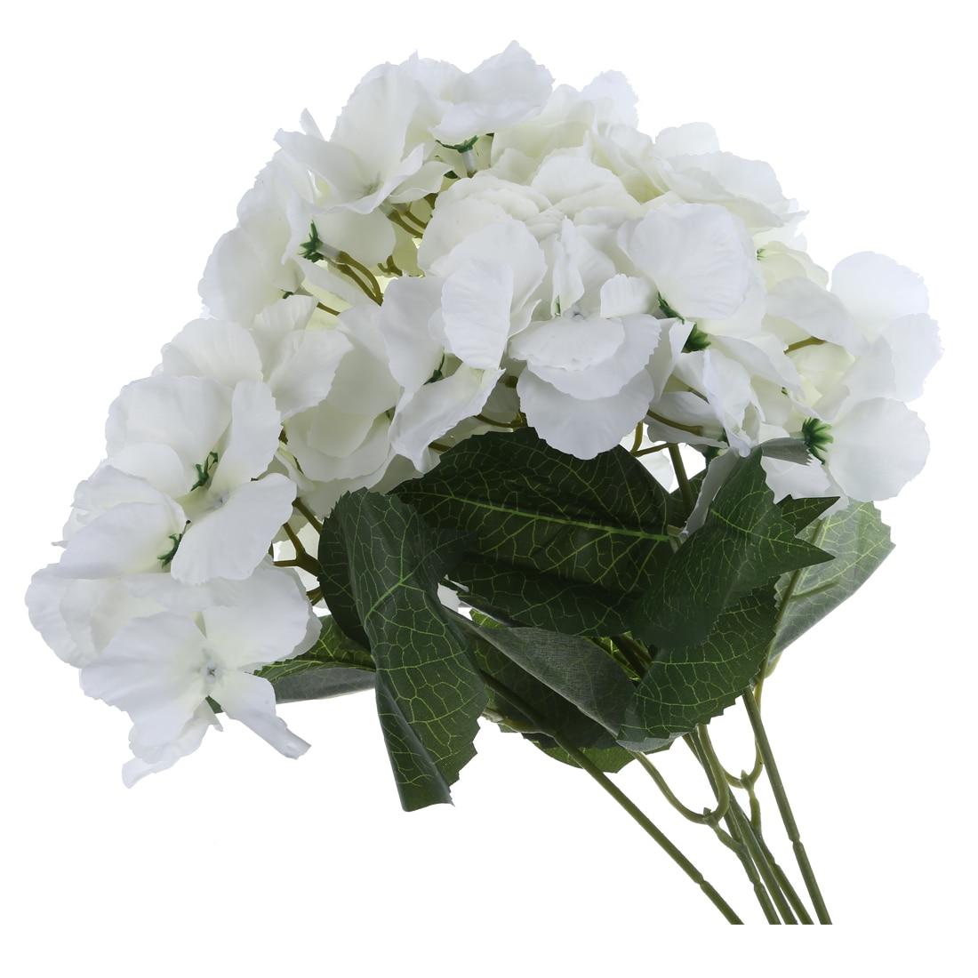 Artificial Hydrangea Flower 5 Big Heads Bouquet Diameter 7 Each