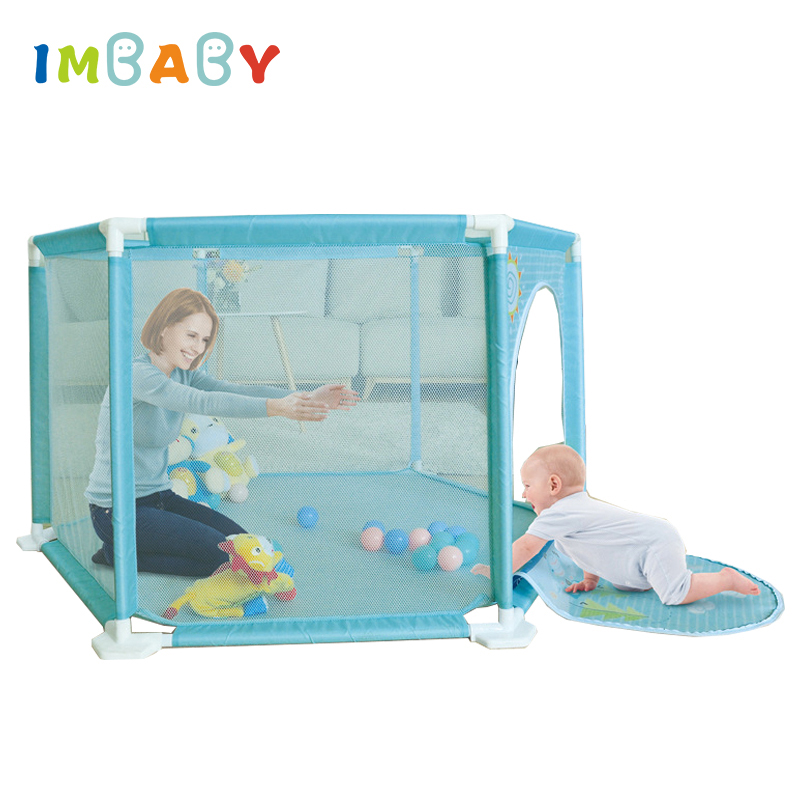 IMBABY Playpen For Newborn Safety Barriers Baby Tent For Kids Ball Pool Piscine A Balle For 0-36 Months Children Fun For Kids