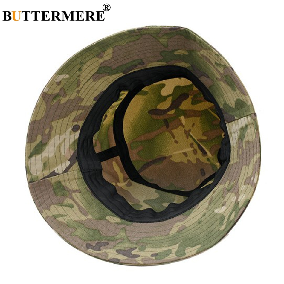 BUTTERMERE Bucket Hat Men Cotton Military Camouflage Bucket Hats Caps Man Flat Breathable Thin Army Tactical Fishing Hat Male in Men 39 s Bucket Hats from Apparel Accessories