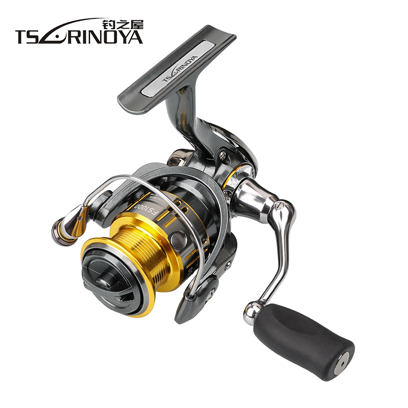 Tsurinoya 10BB 5.2:1 Spinning Fishing Reel Lure Reel FS800 FS1000 FS2000 FS3000 Metal Spool Metal Handle Shallow Spool 2017 tsurinoya fs2000 spinning fishing reel 9 1bb 5 2 1 5kg metal spool screw in handle with spare spool molinete para pesca