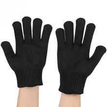 Сетка из нержавеющей стали, устойчивые к порезам, перчатки для безопасности работы, защита мясника, ручной инструмент, перчатки для защиты от порезов, черные