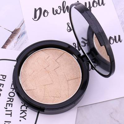 By DHL 200Pcs/Lot Bronzer And Highlighter Palette Glow Kit Powder Face Brightener Make Up Baked Black Gold Contouring Makeup Set