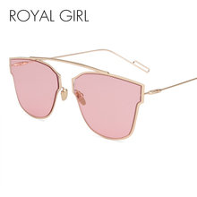 ROYAL GIRL New Women Pink Eyeglasses Vintage Sunglasses Hot brand designer Sun shades pouches included ss304