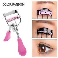 Random Color!!!1PC New Colorful Cosmetic Eyelash Curler With Comb Tweezers Curling Eyelash Clip Cosmetic Eye Beauty Tool False Eyelashes