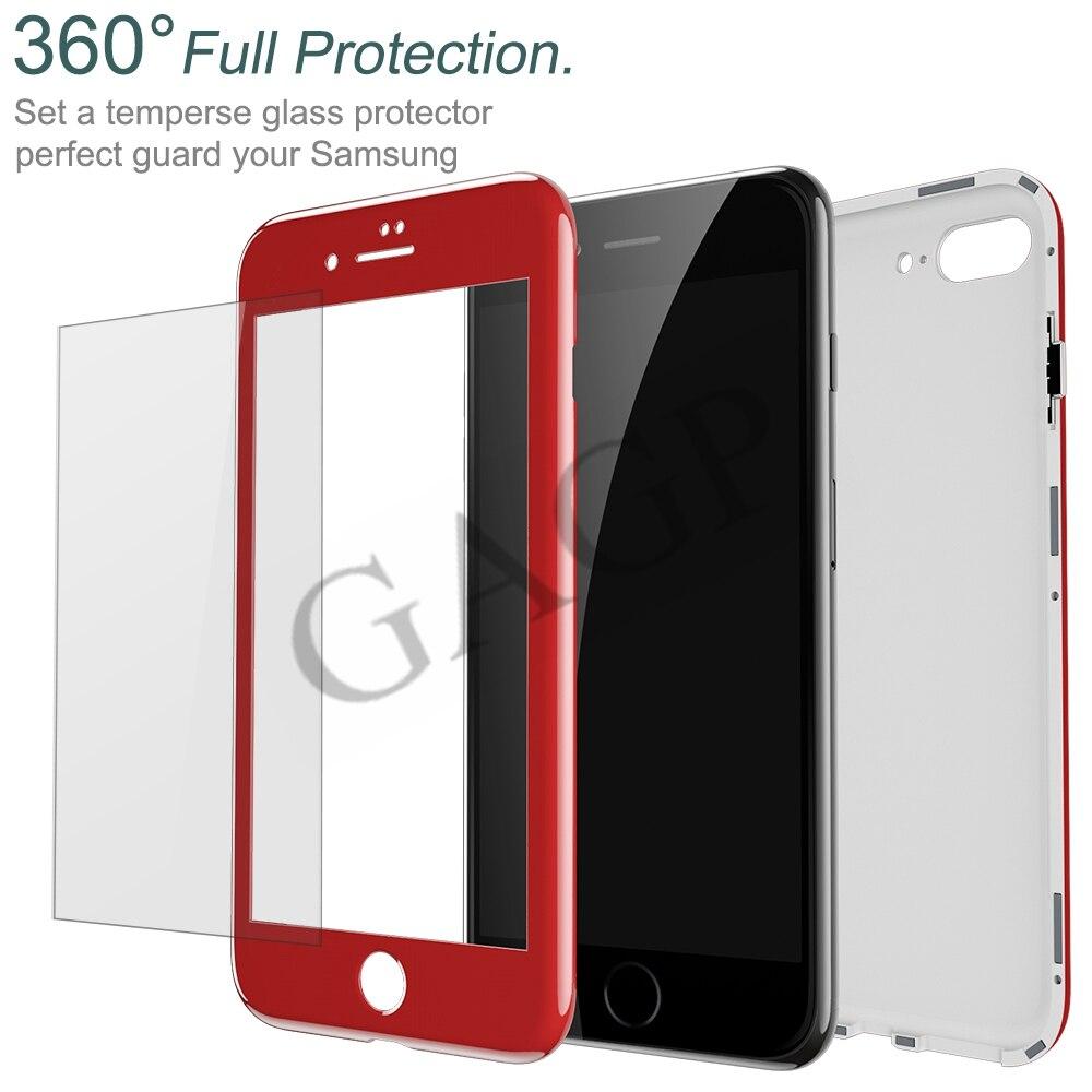 35c18e60cd 10pcs/lot 360 Magnetic Case For iphone 8 Plus iphone 6 6S plus Luxury Cover  Coque Phone Case For iphone X 10 iphone 7 plus Cases-in Fitted Cases from  ...