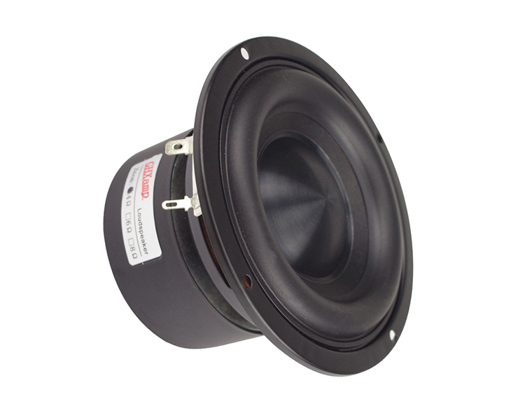 Ceramic Cap 4 inch 116mm Subwoofer Speaker Unit 50W Black Diamond Alumina Cap Woofer LoudSpeaker Desktop Deep Bass NEW 1PCS 8