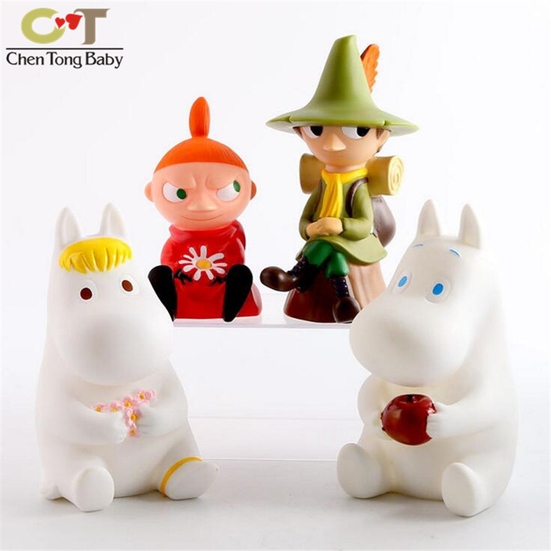 43% Vinyl doll Japanese small fertilizer Moomin family Ami Shili Qi doll cute piggy bank piggy Decoration 20151208 wj01
