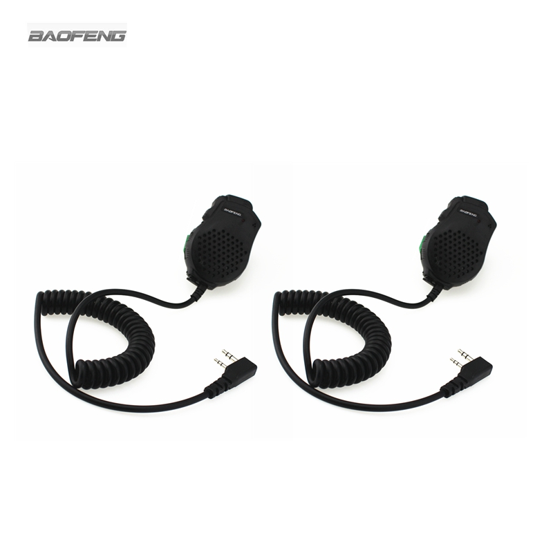 2-PCS Baofeng Dual PTT Speaker Mic Microphone For Baofeng UV-82 Two Way Radio UV-8D 82L  UV-89 UV-82HP Walkie Talkie Accessories