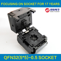 QFN32 MLF32 Burn In Socket IC Test Socket IC550 0324 007 G Pitch 0 5mm Chip