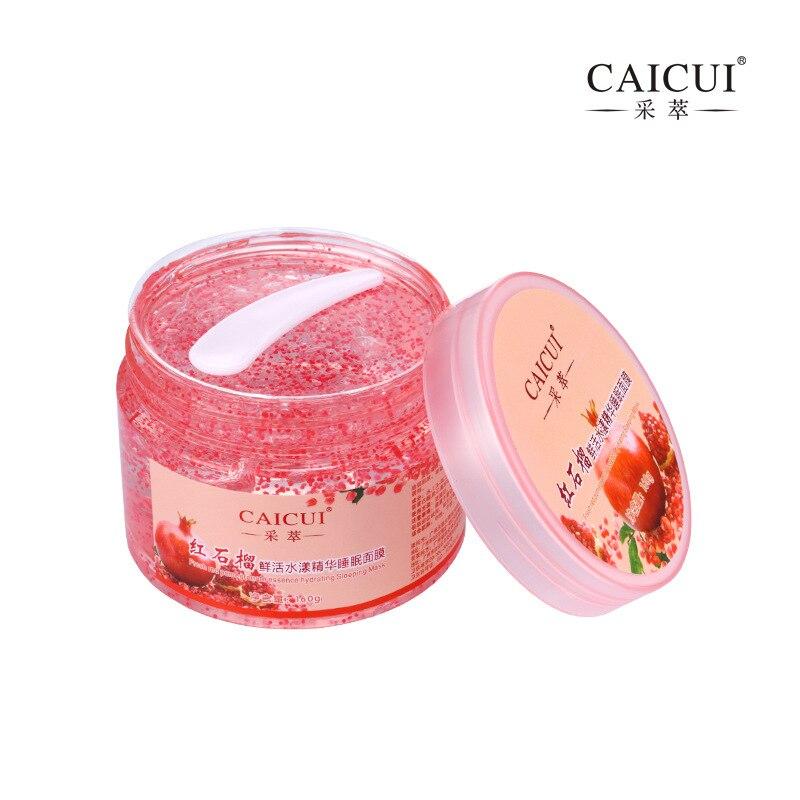 2 Pcs/lot Caicui Pomegranate Essence Gel Mask  Hydrating Sleep Mask Face Mask Anti Wrinkle Aging Moisturizing Whitening 160 G