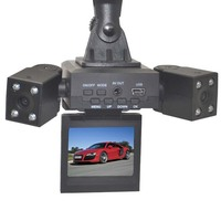 Black Box Car DVR Camera H3000 Dual Lens 8 LED IR Night Vision 2 Inch TFT