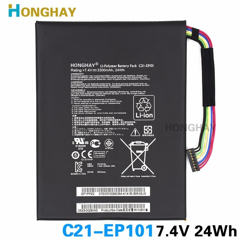 Honghay C21-EP101 original Laptop Battery For Asus Eee Pad TF101 Transformer TF101 TR101 TF101 EP101 Mobile Docking Tablet PC protective pu leather case for asus eee pad transformer tf101 black