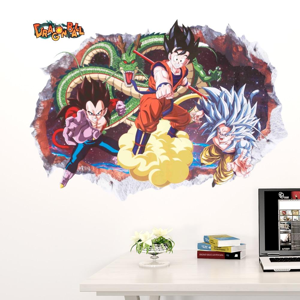 Goku Dragon Ball Super Autocollant Mural Vinyle Décalque Murale poster
