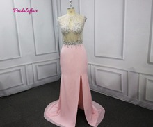 Real Photos Prom Dresses 2018 Sexy O-neck back Ever Pretty  Womens elegant sleeveless long Evening Party