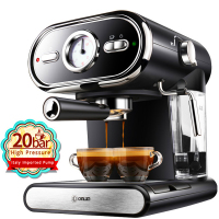 20BAR Coffee Maker Machine Espresso Cups Semiautomatic Household Visualization Milk Foam Double Temperature Control