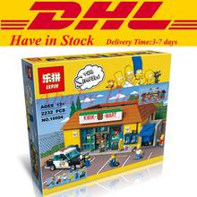 In Stock DHL LEPIN 16004 The Simpsons Kwik-E-Mart Building Blocks Set Minifigures Bricks Christmas Gift Clone 71016