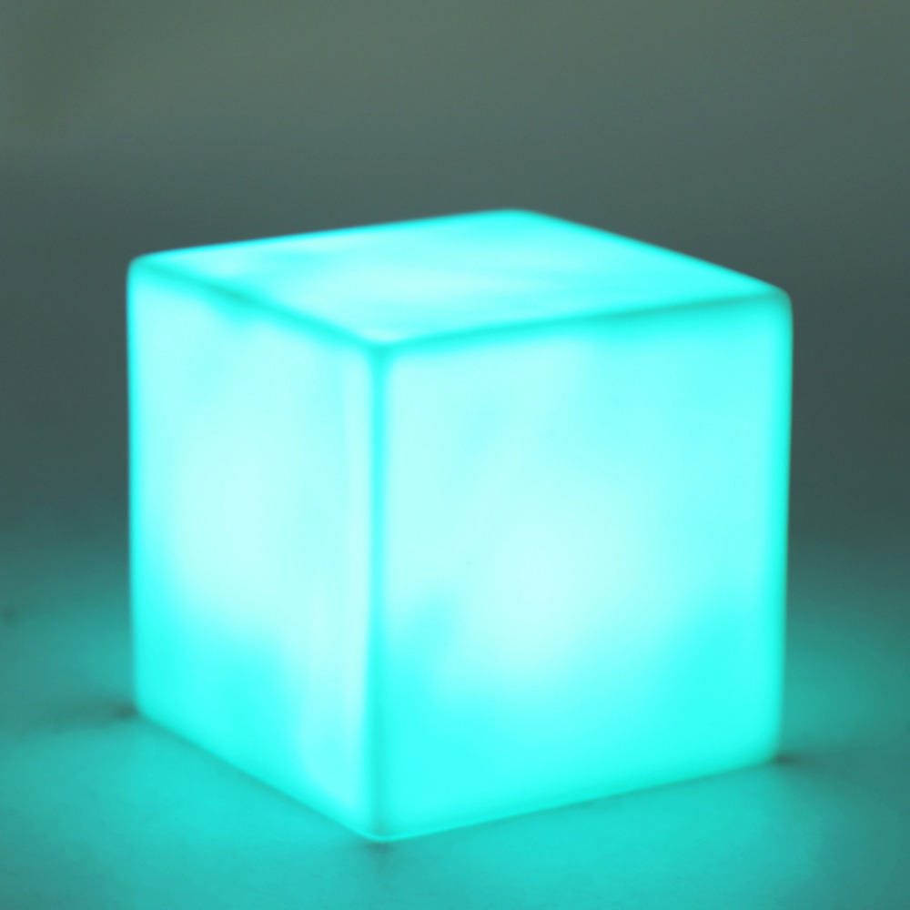 Com buy 10cm cube decorative battery operated rgb led table lamps - Led Color Changing Mood Cube Night Light Table Lamp Gadget Home Party Decoration China