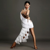 white tassel women latin dress Latina dance dress women dance dress samba sexy rumba costumes salsa dance dresses for dancing