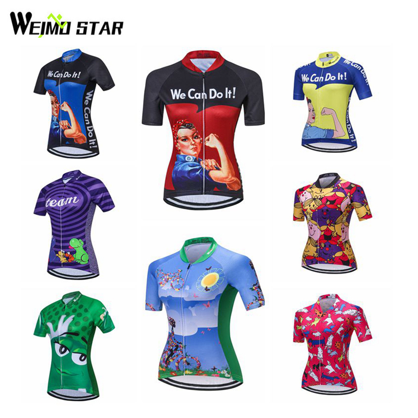Weimostar Cycling Jersey Women Team Bike Ciclismo bicicleta mtb Cycling Clothing Bicycle Jersey Summer Team Bike Jerseys S-4XL gore bike wear women s xenon lady jersey