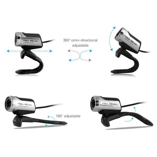 Ausdom AW615 1080p usb 2.0 hd webcam camera computer web camera with microphone for pc laptop free driver web cam