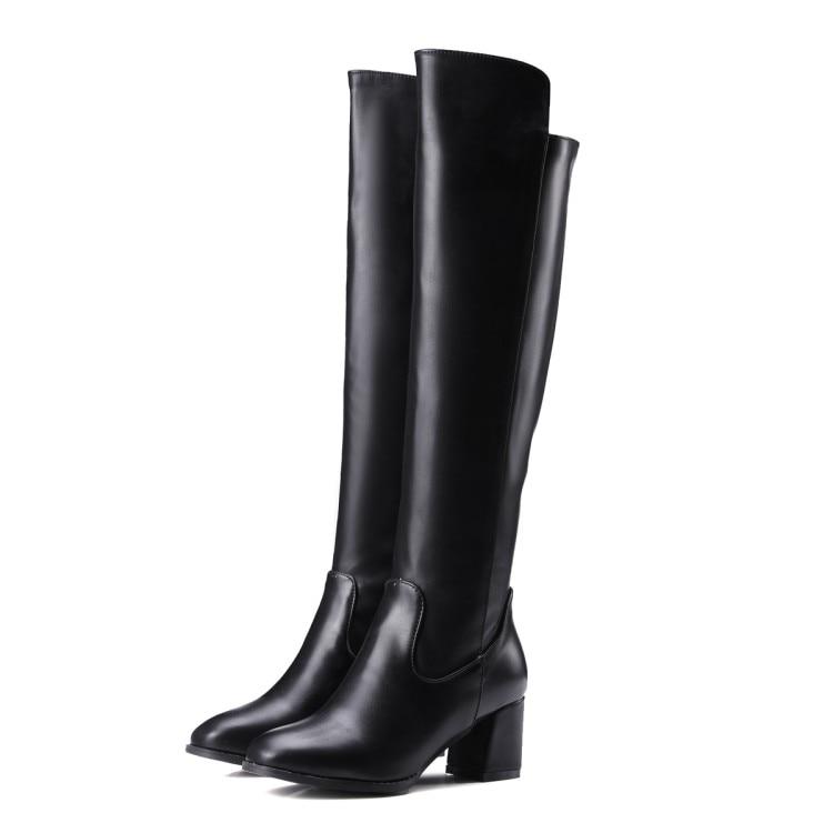 Aliexpress.com : Buy Winter Boots 2016 Women's Solid Over ...