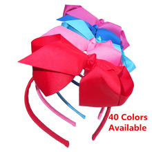 6 INCH hair bow with Headband Hair Hoop Weave plastic Headband Toddler girl hairband  40 Colors Available 40 pcs/Lot linlin indian hair weave bundles loose wave 3 bundles with lace closure 4 pcs lot deal 27 human hair bundles hair rollers