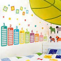 Crianças dos desenhos animados 99 tabela de multiplicação matemática brinquedo adesivos de parede para crianças quartos do bebê aprender educacional montessori mural decalques