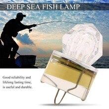 Hot sale LED Deep Drop Underwater Diamond Fishing Flashing Light Bait Lure Squid Strobe Ultra-Transparent Acrylic Shell