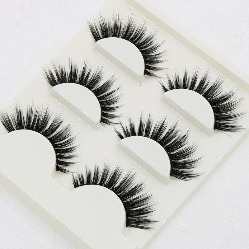Multi Layer 3D Stereo Cross False Eyelashes Handmade Soft Thick Curling Natural Eyelashes Winged Smoke Makeup Fake Eyelashes