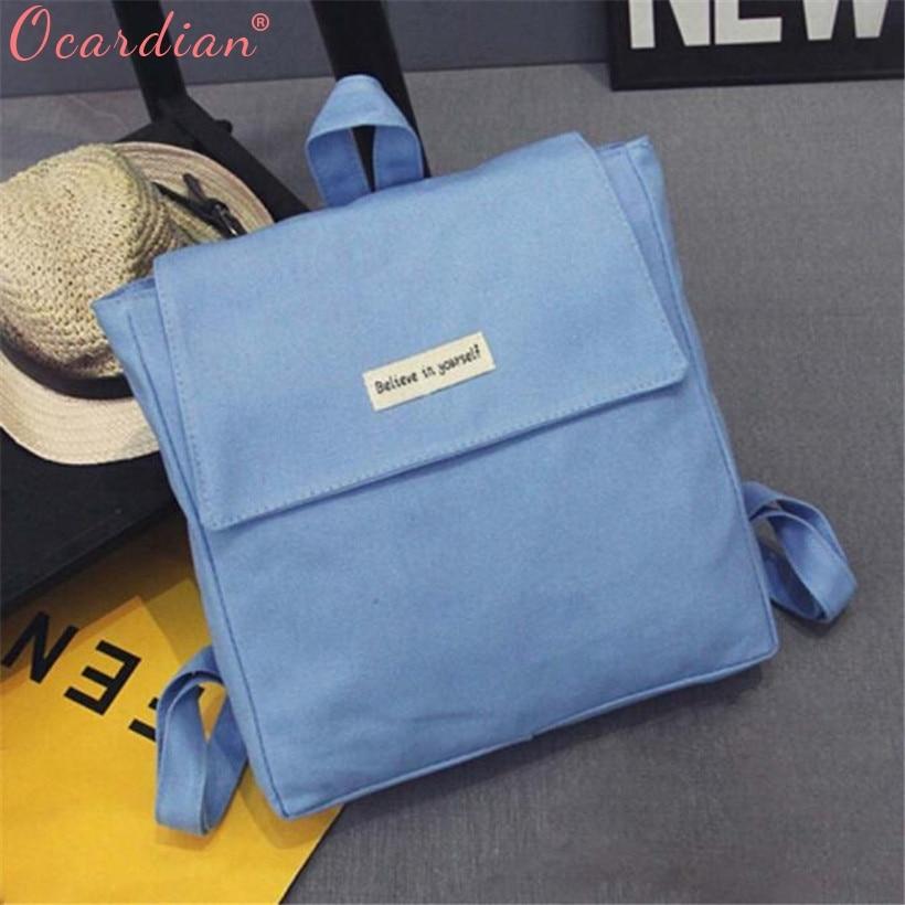 Ocardia девушка холст школьная сумка дорожная милый рюкзак портфель Для женщин плеча рюкзак Повседневное Ретро O18