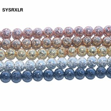 Wholesale Natural Stone Lava Beads Round Electroplated Volcanic Rock Spacer Beads For Jewelry Making DIY Bracelet 6/8/10/12 MM цена 2017