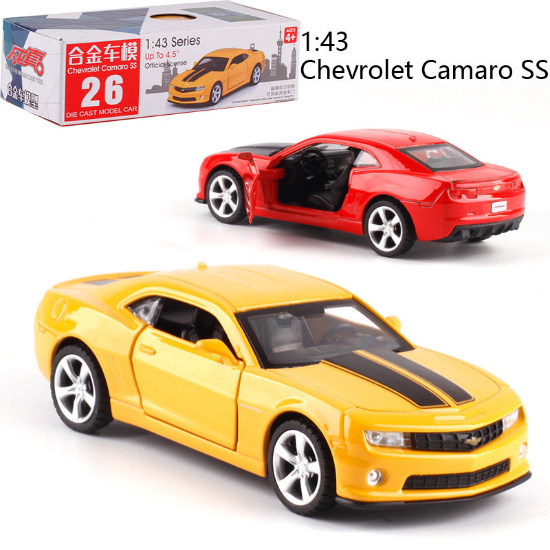1:43 Scale Chevrolet Camaro SS Alloy Pull-back Car Diecast Metal Model Car For Collection Friend Children Gift