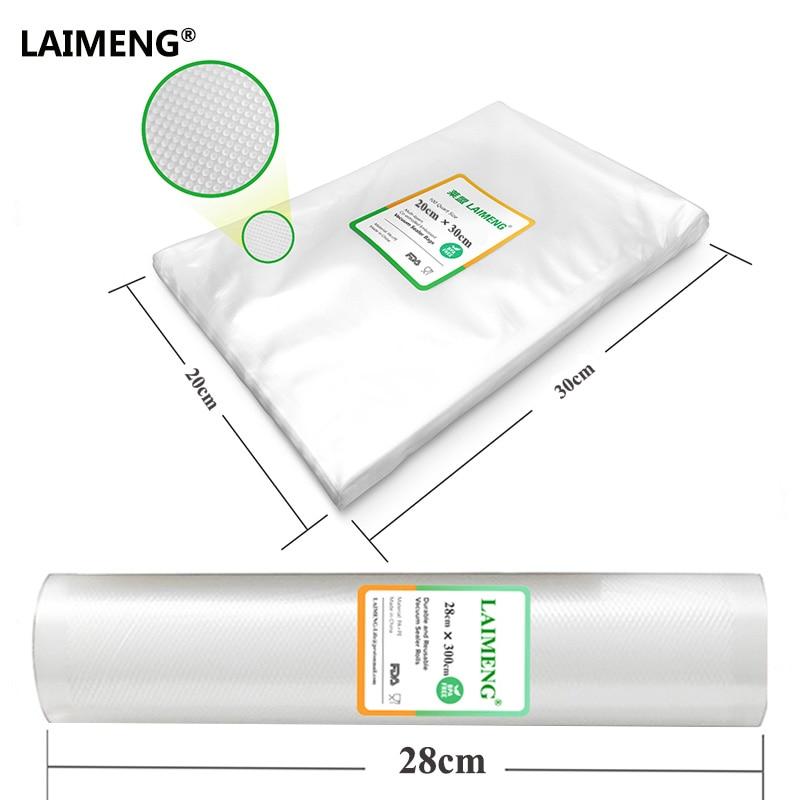 LAIMENG Lowest Price Vacuum Bag BPA Free 20pcs 20*30cm Plus 28*300cm Kitchen Vacuum Sealer Bags lowest price free shipping vacuum cleaner parts accessories pre