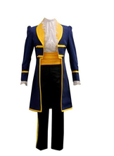 2016 Beauty and the Beast Prince Adam Men Anime Party Halloween Cosplay Costumes Coat Pant White Shirt