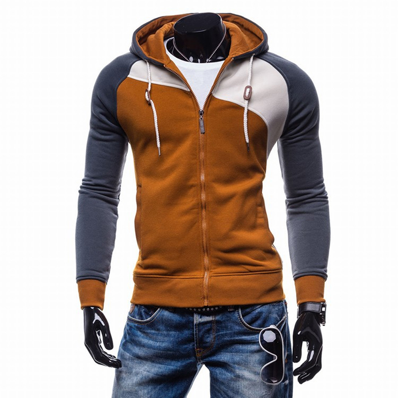 Bigsweety Spring Autumn Hoody Jacket Men's Hoodies Hip Hop Zipper Slim Fit Hooded Sweatshirts Male Coats With Pockets Hot Sale
