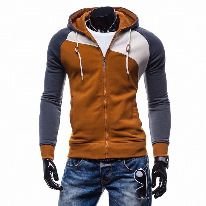 Bigsweety Spring Autumn Hoody Jacket Men's Hoodies Hip Hop Zipper Slim Fit Hooded Sweatshirts Male Coats With Pockets Hot Sale