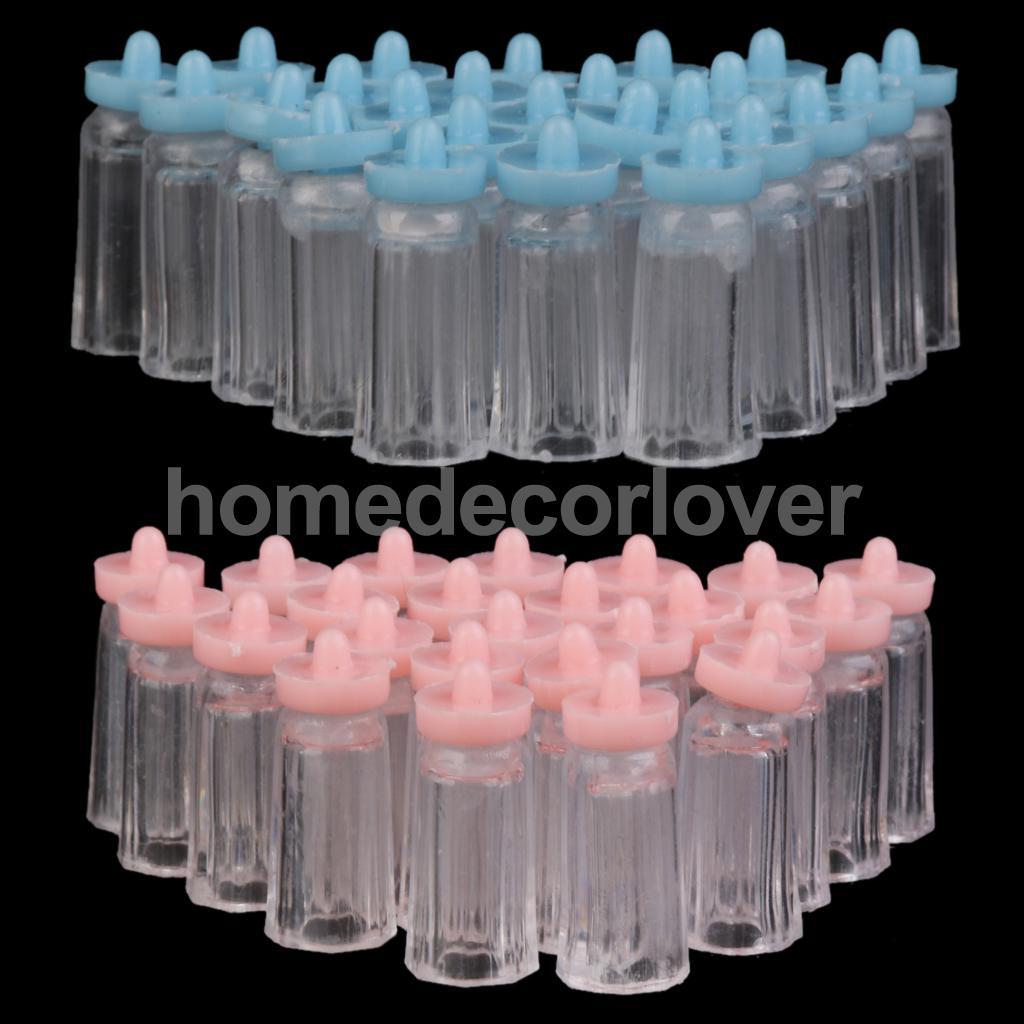 24x Cute Mini Bottle Girl Boy Baby Shower Favor Party Table Decor Candy Box