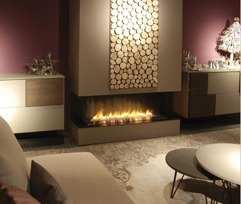 36 Inch Silver Or Black Real Fire RS485  RS232 Dry Contact Intelligent Auto Bio Ethanol Fireplace Insert