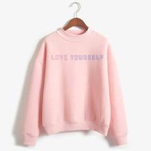 2019 KPOP love yourself sweatshirt hoodie kpop  hoody Harajuku Sweatshirt Winter Womens Round Neck Turtlenec