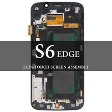 Класс ЖК дисплей для s6 edge с рамкой супер amoled сенсорным