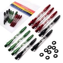 Cuesoul 3 Set 2ba Medium Aluminum Dart Shafts Stem,Black,Red,Blue