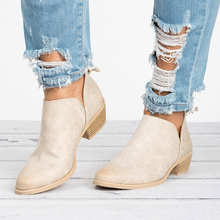 2019 New Spring Boots Female Square Heel Slip on High Heels Shoes Pointed Toe Casual Fashion Shoes Women new arrival square heel sexy shoes women fashion flock shoes pointed toe casual slip on height shoes for woman spring shoes