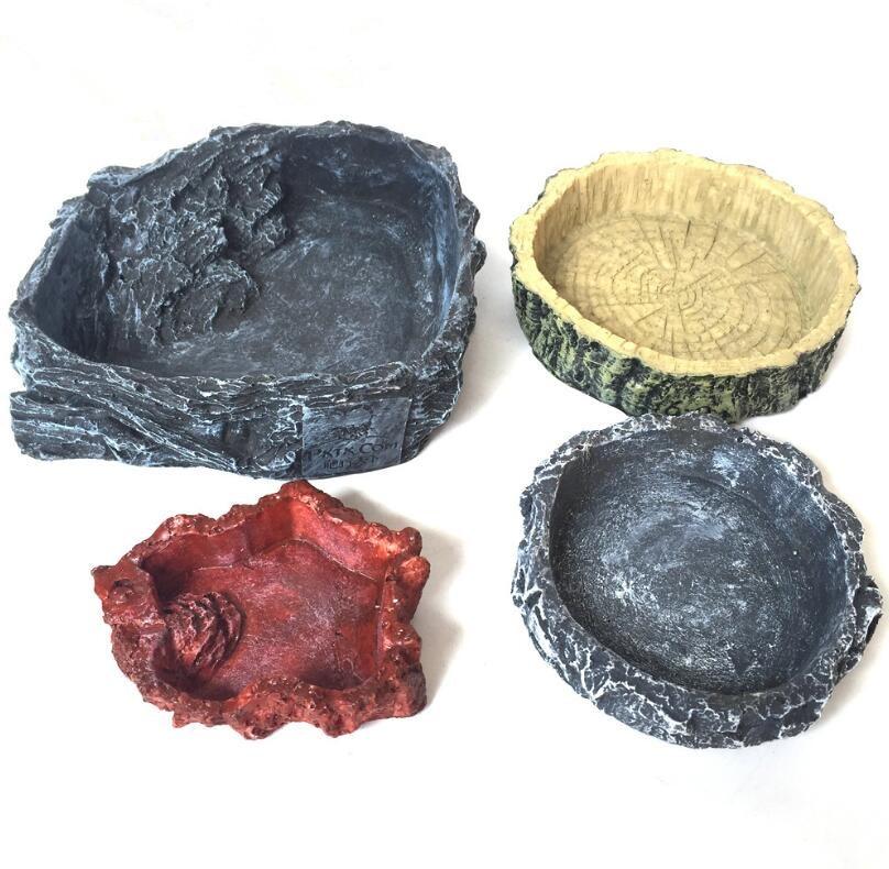 Crawler Pet Feeder Bowl Basin Resin Non-toxic Food Water Pot Reptile Turtle Tortoise Scorpion Lizard Crabs Pets Supplies