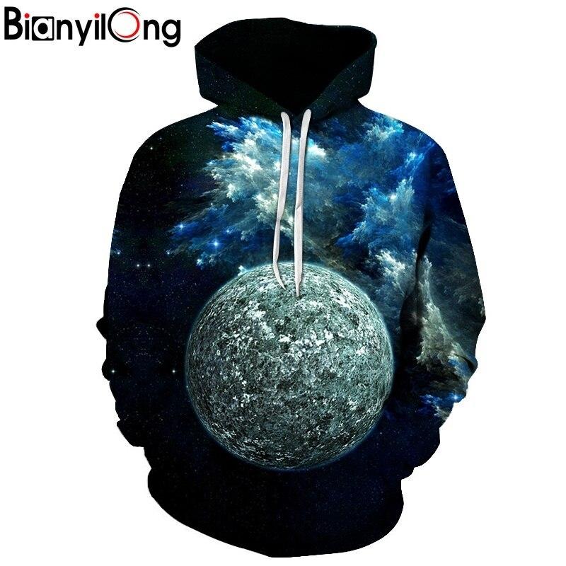 BIANYILONG New Fashion Men/Women 3d Hoodies Prin universe planets 3d Sweatshirts Unisex Space Galaxy Hooded Hoodies