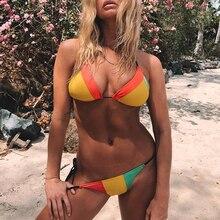 Swimwear Women Bathing Suit Brazilian Biquini Neon Bathers Bikini Micro Thong 2019 Halter String Female Swimsuit Triangle