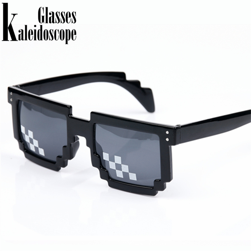 Kaleidoscope Glasses Thug life Mosaic Pixel Glasses Around the World 8 bits Deal With It Sunglasses Men Women Second Element muñeco buffon