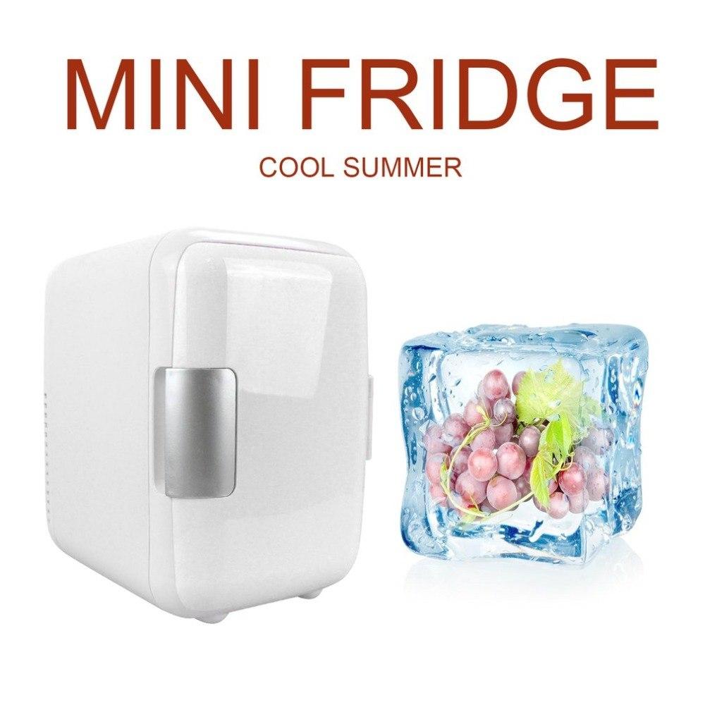 Compact Size 4L Car Refrigerators Ultra Quiet Low Noise Car Mini Refrigerators Freezer Cooling Heating Box Fridge